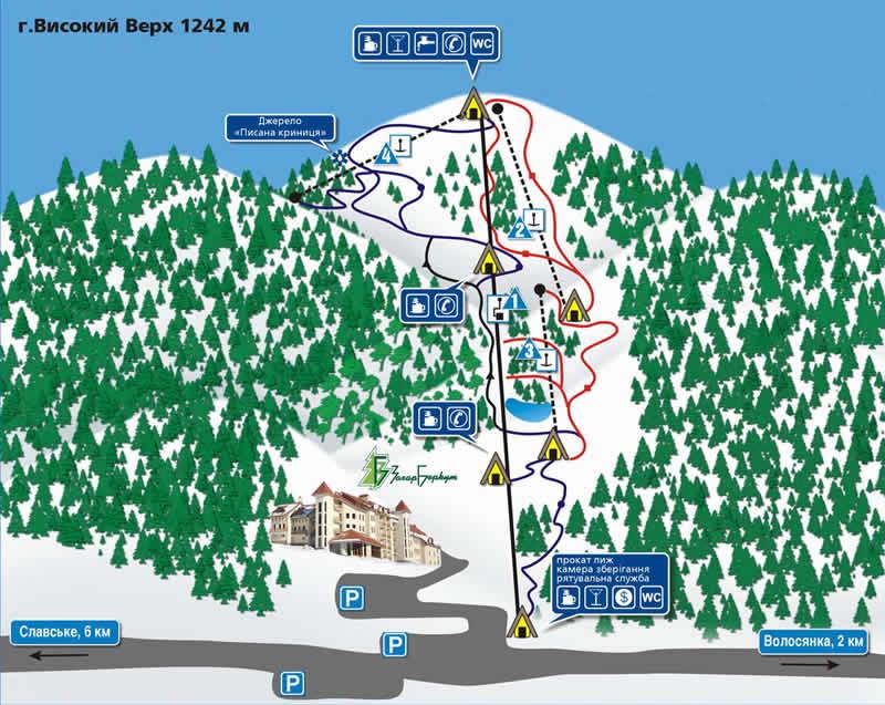 Карта горнолыжных трасс